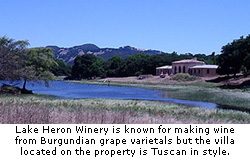 A Tuscan style villa on the Lake Heron Winery estate